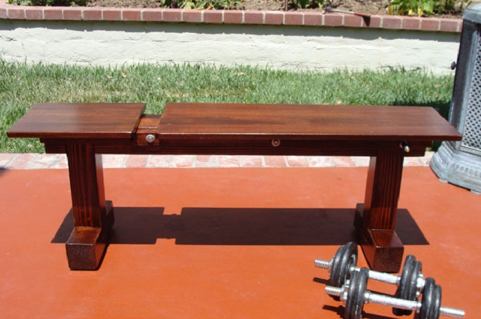 how to make a workout bench