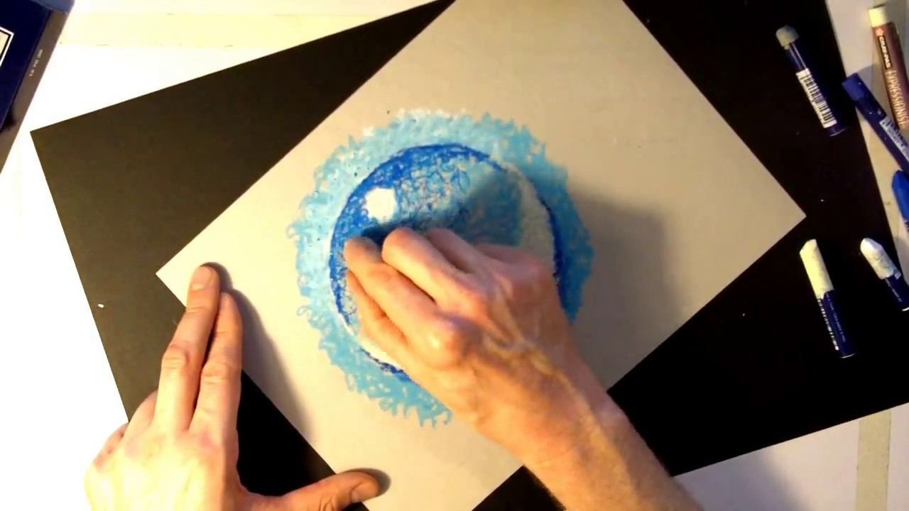 How to use oil pastels with water